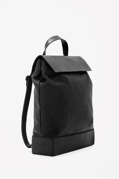 Structured leather backpack #cos