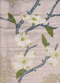 Lexington in Dogwood from Ferrick Mason (Spring 2012). Hand Silk Screened in Los Angeles on Belgium linen.