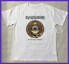 Summer IRON MAIDEN Eddie Evolution Faces Men T-Shirt High Quality Casual Short Sleeve Shirt Harajuku O Neck Print Tshirt Homme