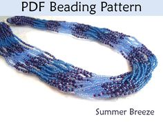 Beading Patterns Beaded Necklace Tutorial by SimpleBeadPatterns, $8.00