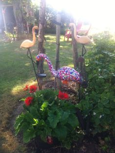 My grand daughter 's project for the garden