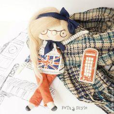 Купить Кукла и Брошь Лондон Кукла текстильная - кукла текстильная купить, недорогая кукла купить