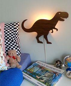 LED Lamp Dinosaurus - Walnoot
