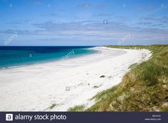 Dunes at Cille Pheader on the west coast of South Uist, Scotland Stock Photo