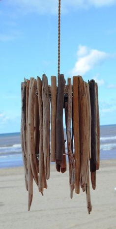 Hanging Driftwood lamp