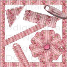 Buy 1 Get 1 Free Pink Shabby Vintage Floral Chic by digitalscrap
