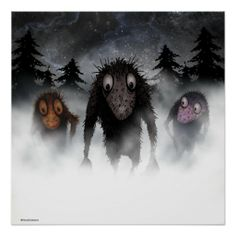 Three Trolls Posters from #StrangeStore #geek #geekygifts