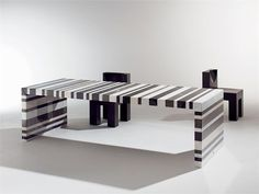 Barcodes in the office!  This barcode table would be perfect for our office!