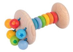 The Heimess Touch Ring Rattle Rattle Rainbow is a traditional wooden toy made in Germany. Heimess toys are made of hardwoods such as beech and sycamore, sustainably harvested from select German forests. Wooden Toy Boxes, Wooden Toys, Iq Puzzle, Owl Mobile, Activity Cube, Non Toxic Paint, Baby Hands, Sensory Toys, Safari Animals