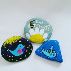 #tas #tasboyama #tassusleme #stones #pebbles #stoneart #pebblesart #art #handmade #handpainted #handpaintedstones #magnet #tablo #hediye #kisiyeozel #siparis #rockpainting #rockpaintedstones #birds