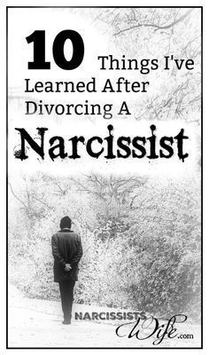 10 Things I've Learned After Divorcing a Narcissist - Narcissist's Wife Ten lessons I have learned after divorcing a narcissist. Hope for rebuilding your life after narcissistic abuse. Reclaiming your identity after divorce. Divorcing A Narcissist, Narcissistic People, Narcissistic Abuse Recovery, Narcissistic Behavior, Narcissistic Sociopath, Narcissistic Personality Disorder, Gaslighting, Narcissist Quotes, Dealing With A Narcissist