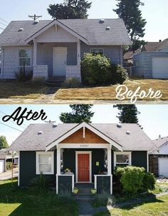 18 Trendy home remodeling exterior before after Home Exterior Makeover, Exterior Remodel, Diy Exterior Updates, Home Renovation, Home Remodeling, Exterior Renovation Before And After, Bathroom Remodeling, Fixer Upper, Before After Home