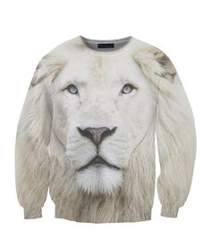 Beloved wear presents the White Lion Sweatshirt Beloved Shirts, 3d T Shirts, Types Of Fashion Styles, Hoodies, Sweatshirts, Clothes, Snow, Sweaters, Cardigans