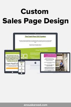 Custom Sales Page Design by Anouska Rood -for Cash Flow CEO Fake Home, Feeling Overwhelmed, Page Design, More Fun, Knowing You, Flow