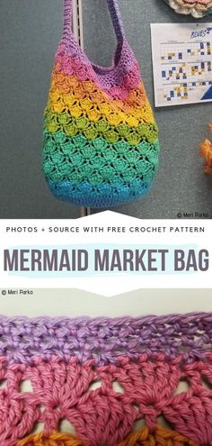 Most up-to-date Pic Crochet Bag easy Tips Easy Market Bags Free Crochet Patterns – Free Crochet Patterns Stitch Crochet, Crochet Motifs, Crochet Tote, Crochet Handbags, Crochet Purses, Crochet Crafts, Knit Crochet, Free Crochet Bag, Crochet Granny