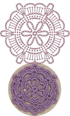 No.6 Snowflake Medallion Lace Crochet Motifs / 눈송이 메달리온 모티브도안