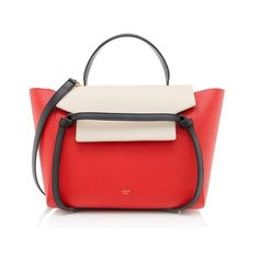 Celine Rental Mini Belt Bag ($300) ❤ liked on Polyvore featuring bags, handbags, red fanny pack, over the shoulder handbags, over the shoulder purse, celine handbags and elephant purse