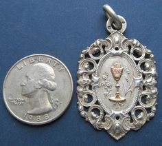 On Sale Antique Religious Medal French Sterling by davidjp1927