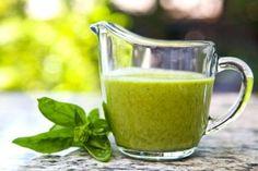 1/2 garlic clove, medium 1 cup basil 3 tablespoons olive oil 1 tablespoon water 1/2 teaspoon salt 2 to 3 drops of liquid Stevia Juice of 1 lime