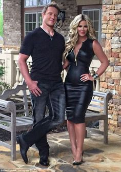The blonde bombshell: Zolciak, seen here with husband Kroy Biermann, is also the star of Don't Be Tardy