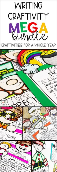 A writing craftivity pack for each month of the year! Includes 3-6 writing prompts/toppers for holidays throughout the school year. From Thanksgiving writing prompts to spring writing prompts you will be covered!