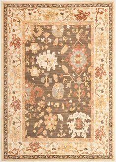 Safavieh Heirloom HLM1739-2511 Brown / Creme Rug