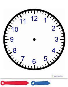 Blank Clock Worksheets For Kids – Mreichert Kids Worksheets Clock Worksheets, Kids Math Worksheets, Math Activities, Free Worksheets, Printable Worksheets, Printable Coloring, Free Printables, Teaching Time, Help Teaching