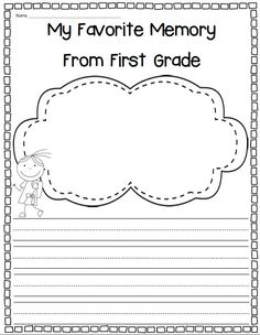 First grade reflections and activities for end of year! $