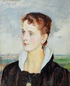 Wlastimil Hofman (Polish,1881-1970), oil on canvas.