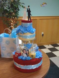 Bridal Shower Towel Cake by kim-marie - Cards and Paper Crafts at Splitcoaststampers