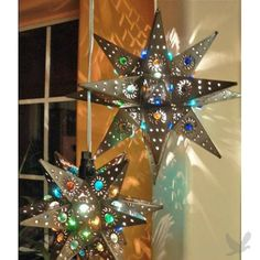 Star Lamp with Marbles