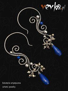 Vevka.pl - autorska biżuteria artystyczna - Kolczyki -Bezsenność w Seattle-