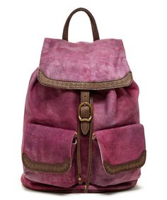 Look at this #zulilyfind! OLD TREND Purple Cozy Leather Backpack by OLD TREND #zulilyfinds