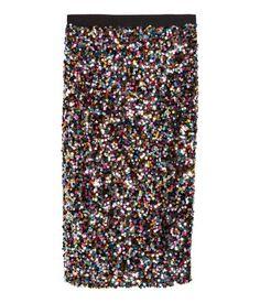 H&M Sequin Skirt $59.95