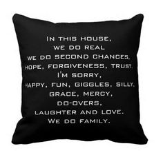 Quote Life Boutique Shop: In this House Family Quote Throw Pillow