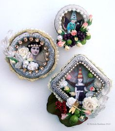 How to make altered art brooches