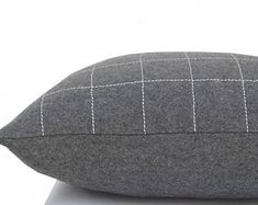 Check out our felt pillow selection for the very best in unique or custom, handmade pieces from our decorative pillows shops. Decorative Throw Pillows, Wool Felt, Gray, Home Decor, Accent Pillows, Wool Felting, Decoration Home, Room Decor, Grey