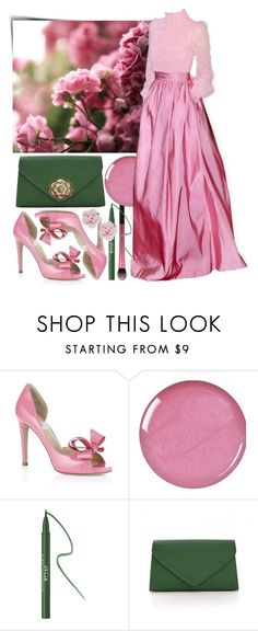 """""""Pink Roses"""" by itscindylou ❤ liked on Polyvore featuring Valentino, Stila, Louis Vuitton and Palm Beach Jewelry"""