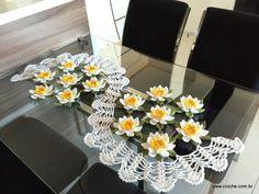 Trilho de mesa flor de lótus parte 3 (86)