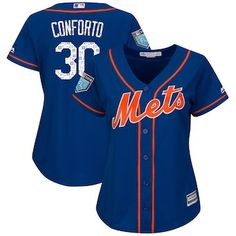 Michael Conforto New York Mets Majestic Women s 2018 Spring Training Cool  Base Player Jersey – Royal 167ab8f12