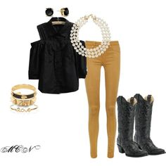 """""""MIZZOU TAILGATING OUTFIT"""" by srat-belle on Polyvore...could also be a classy Hawkeye outfit with brighter pants!"""