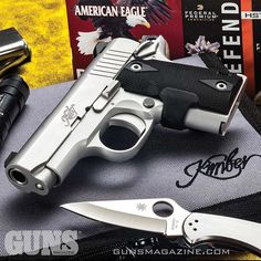 """A Micro 9 for midweek emergencies. Kimber's """"Mini-1911"""" is built for close-quarter self-defense spitting +P 9mm from a .380-size platform. More from GUNS Magazine February 2017 issue by following our profile link. ---------- #gunsmagazine #kimberamerica #"""