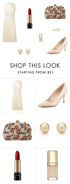 """Untitled #7836"" by mie-miemie ❤ liked on Polyvore featuring Valentino, Manolo Blahnik, Serpui, Lancôme, Dolce&Gabbana and WWAKE"