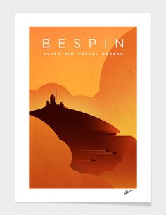 """""""Outer Rim Travel Bureau: Bespin"""", Numbered Edition Fine Art Print by Michael Mateyko - From $25.00 - Curioos"""