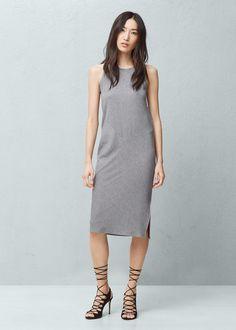 Metal ribbed dress - Dresses for Woman | MANGO United Kingdom