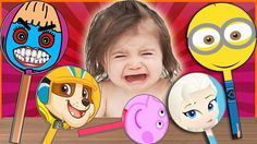 Bad Baby Crying and Learn Colors - Colorful Lollipops with Paw Patrol, M...