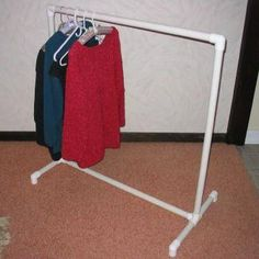 Clothes Rack- HOW TO BUILD A CLOTHES RACK WITH PIPE