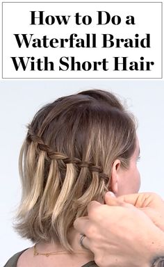 Yes, you can do a gorgeous waterfall braid when you have a bob or lob! Click through to watch our how-to video for girls with short hair