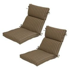 Plantation Patterns Bark Stripe Patio Deluxe Chair Cushion (2-Pack)-7719-02002900 at The Home Depot