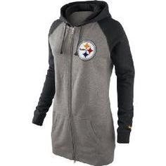 Pittsburgh Steelers Women's Nike Wildcard Boyfriend Full Zip Hoodie - Official Online Store